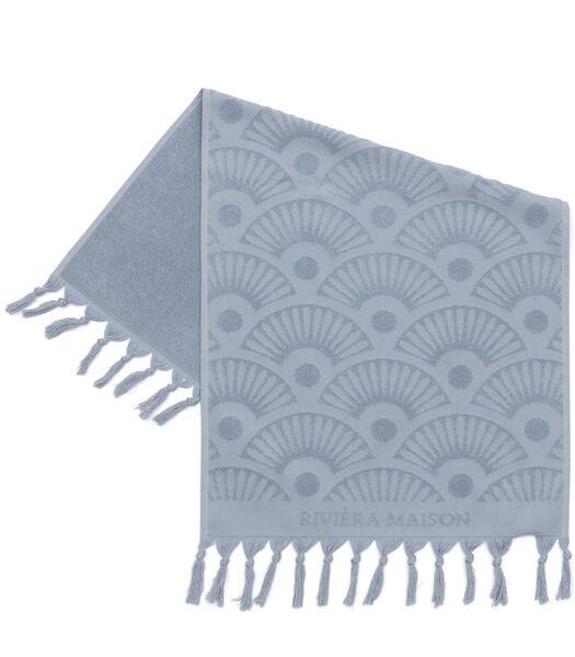 Serviette de bain RM Wave bleu clair 100x50