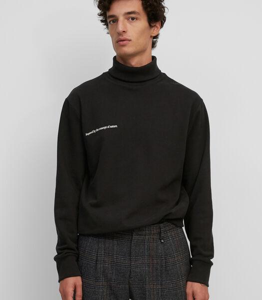 Sweat-shirt à col roulé en coton biologique