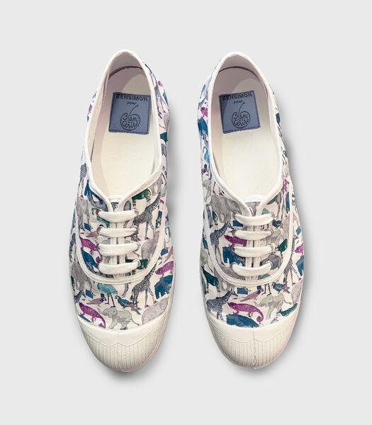 Tennisschoenen Bensimon X Blanc Cerise