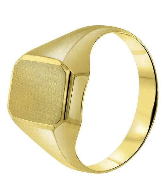 14 Karaat geelgouden ring zeskant