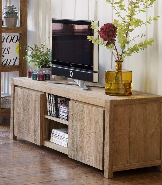DRIFT Meuble TV en teck recyclé