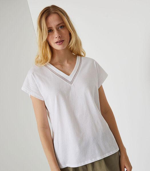 Hanaé - Homewear T-shirt met korte mouwen katoen