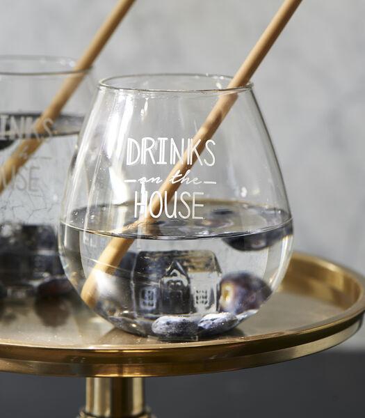 Boissons sur le verre de la maison
