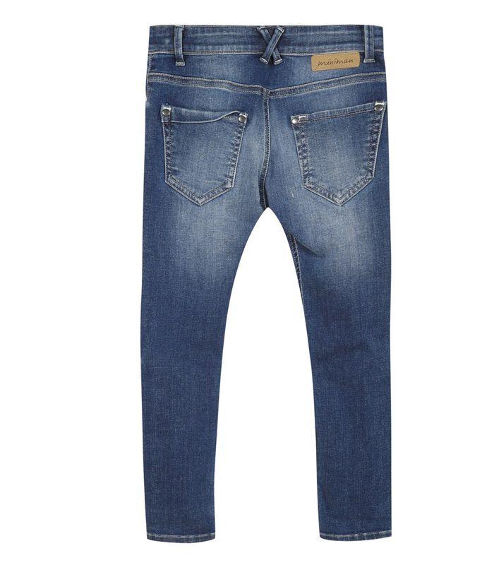 Verbleekte slim jeans image number 1