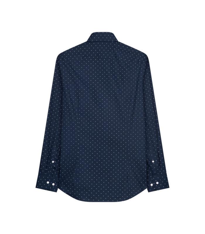 Overhemd Slim Fit Lange mouwen Stippen image number 1