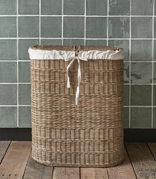 Rustic Rattan My Laundry Basket