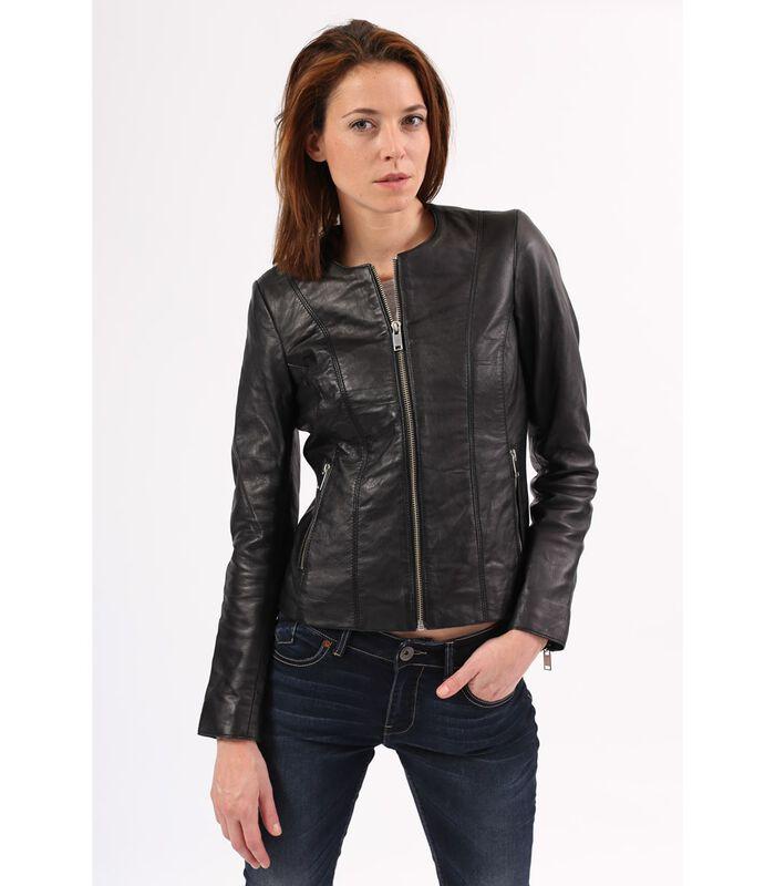 CELINE jas in schapenleer biker stijl image number 1