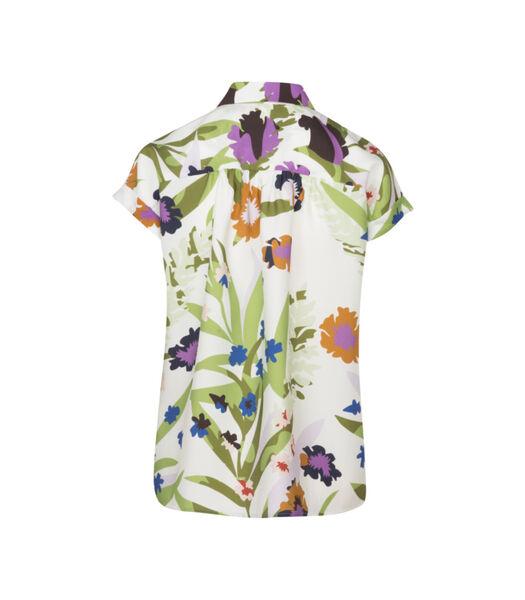 Shirtblouse Bloemen Korte mouwen Kraag