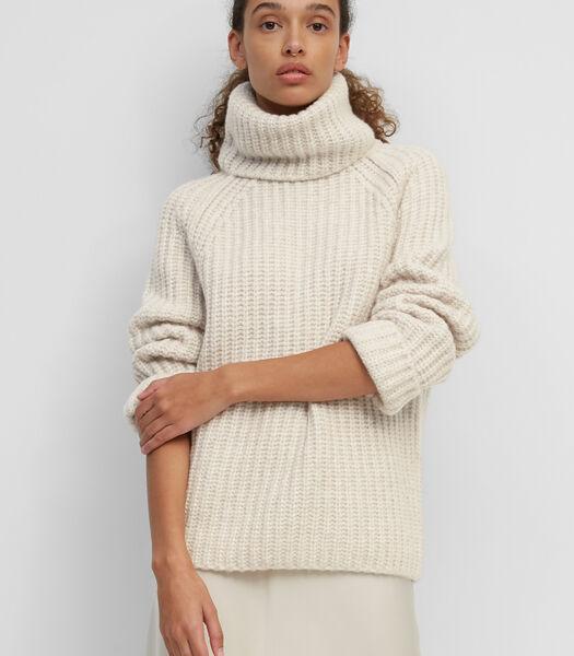 Pull-over à col roulé en maille en laine durable