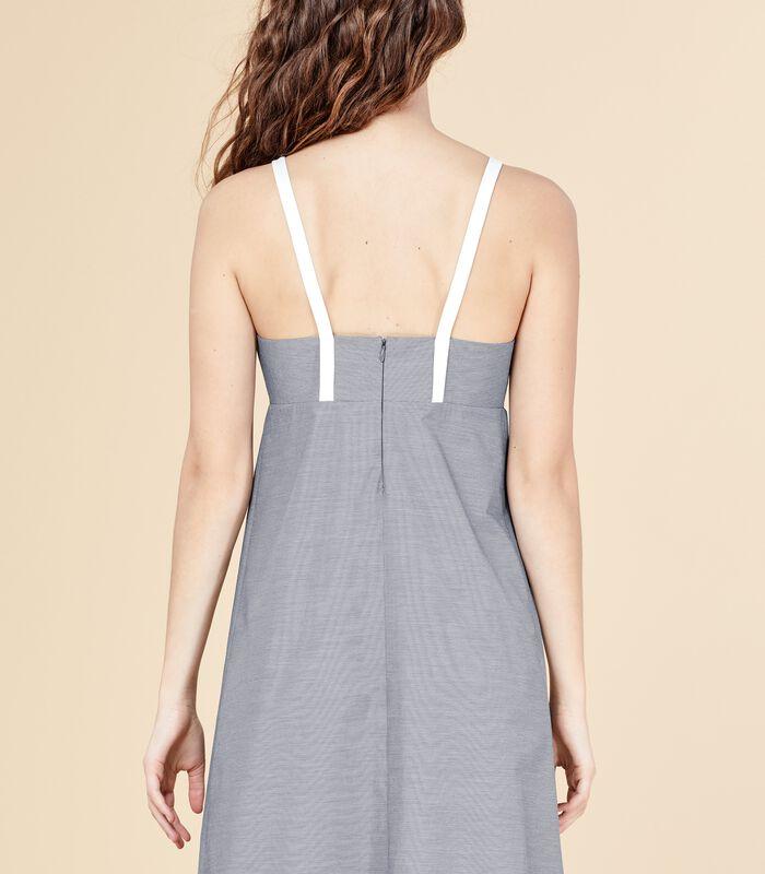Korte jurk MERITANT met bandjes en ruitjesprint image number 4
