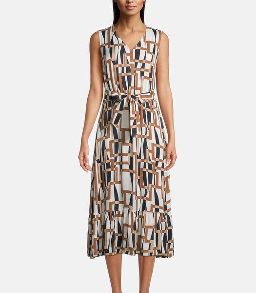 Maxi-jurk met V-hals