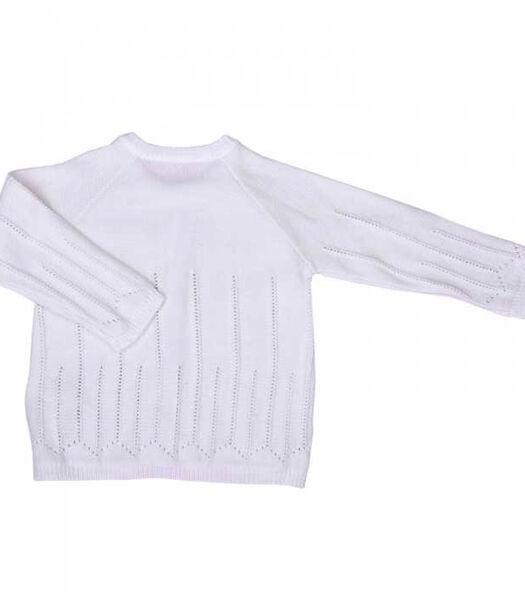Gilet bébé en tricot de coton bio - LUNA