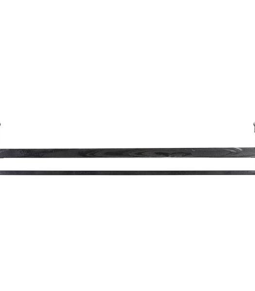 Wandplank MADDISON hout zwart - XL