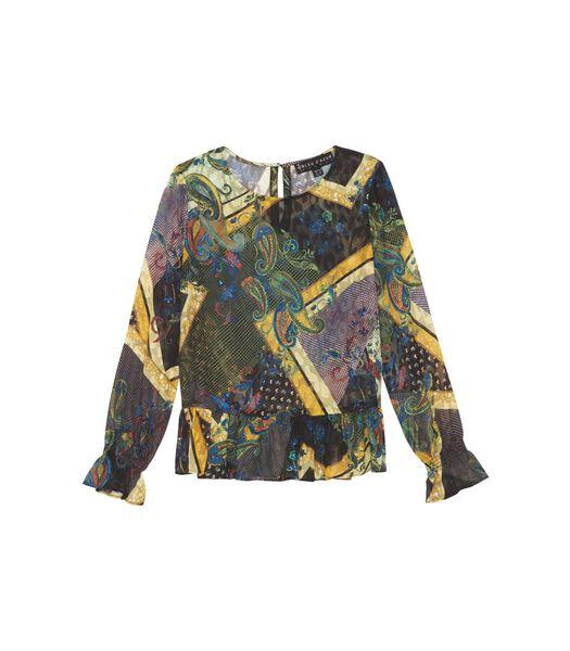 MISS gerimpelde blouse
