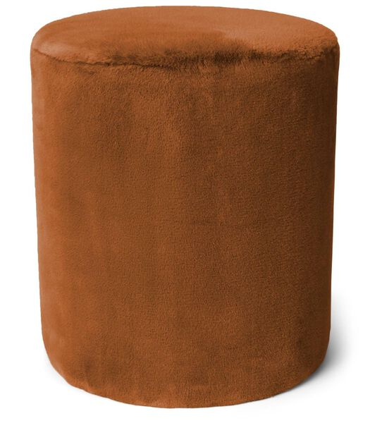 FURRY - Poef - Leather Brown