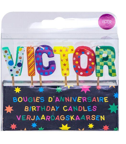 Bougies d'anniversaire prénom Victor