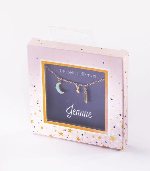 Collier prénom Jeanne avec pendentif Lune