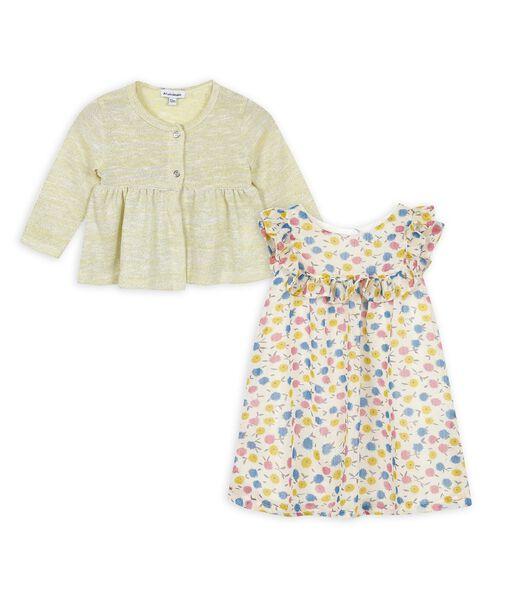 2-delige jurk en vest set