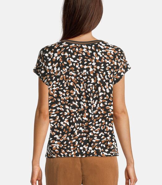 Casual shirt met luipaardprint