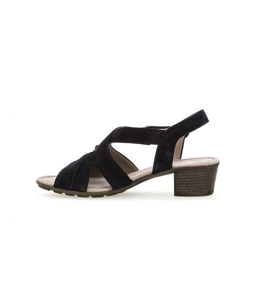 Sandales bleu pacifique en cuir