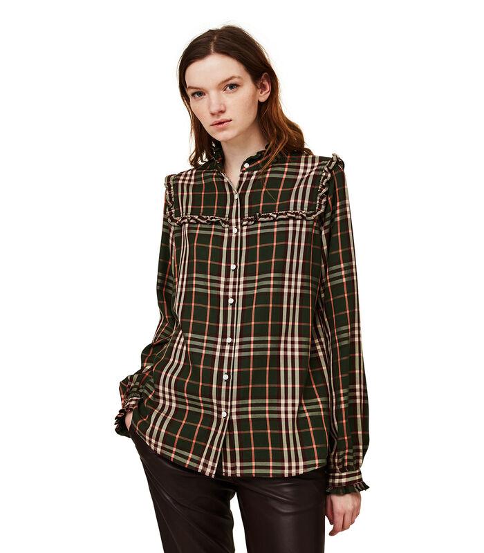 Jordan lyocell blouse met ruches image number 0