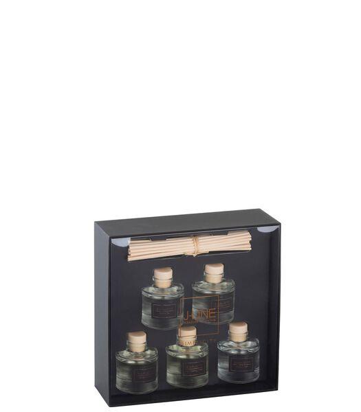 Boite 5 Huiles Parfumees Simplicity Noir/Cuivre