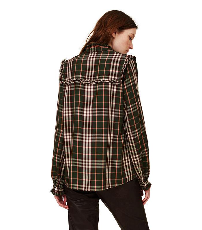 Jordan lyocell blouse met ruches image number 2
