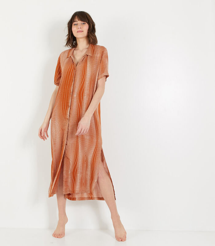 Bambou - Homewear lange Jurk viscose image number 0