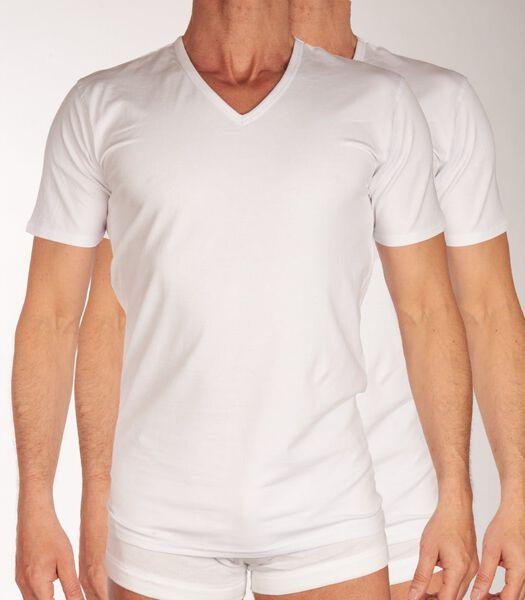 T-shirt v-hals 2 pack h-s