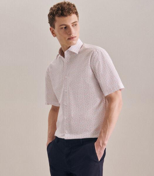 Overhemd Regular Fit Korte mouwen Print
