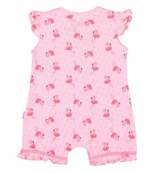 Biologische katoenen baby pakje voor meisjes Roze