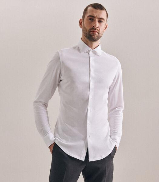 Jerseyhemd Shaped Fit Lange mouwen Uni