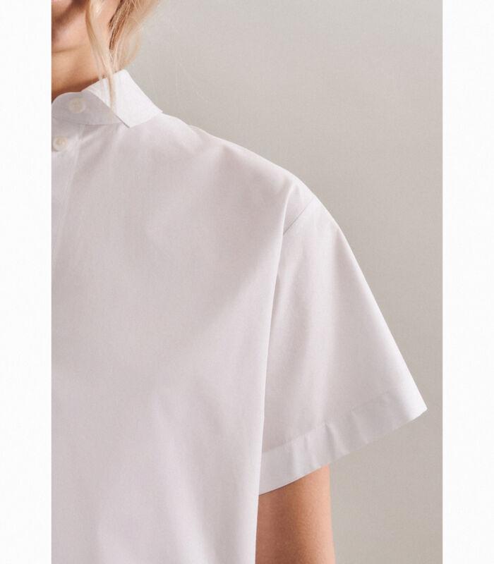 Shirtblouse Uni Korte mouwen Kraag image number 3