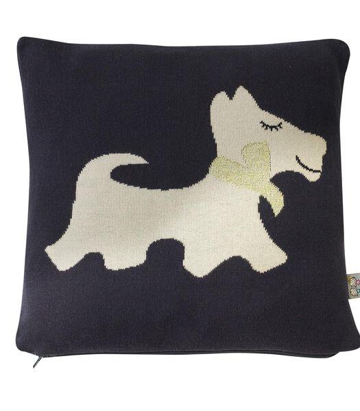 Kussensloop van Tricot katoen -  Hond SCOTTY