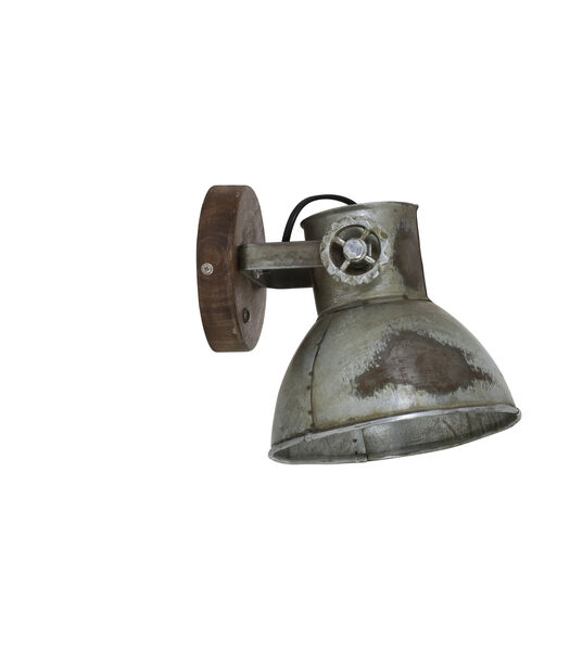 Wandlamp Elay - Hout/Industrieel