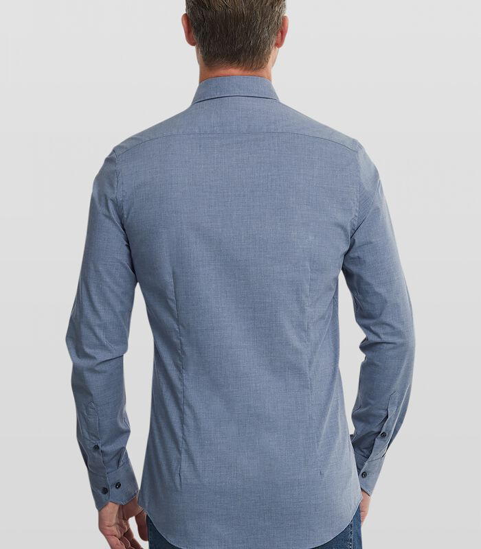 Easy care overhemd met denim look image number 1