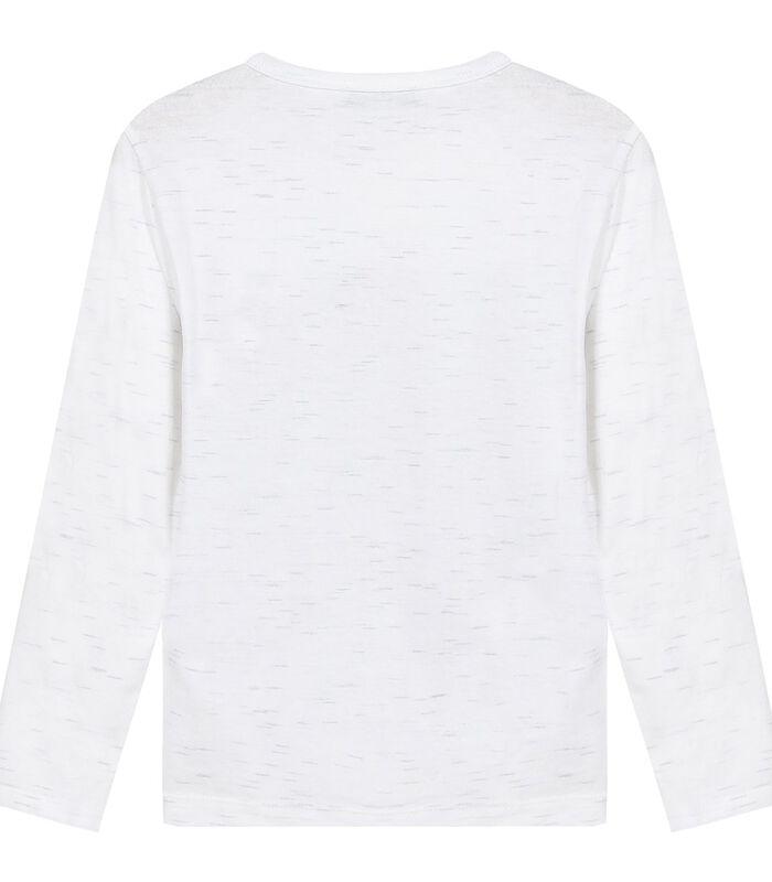 T-shirt met lange mouwen en rockmotief image number 1