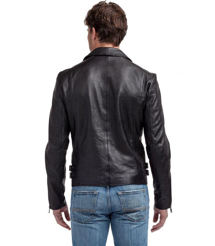 Anton jas in schapenleer biker stijl image number 2