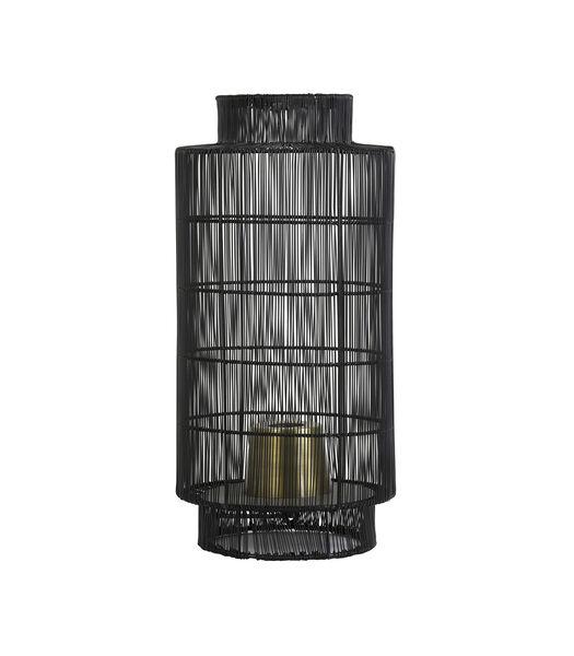 Lampe de table/Lanterne GRUARO - Fil noir antique-bronze