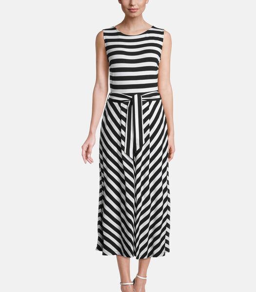 Jersey jurk met strepen