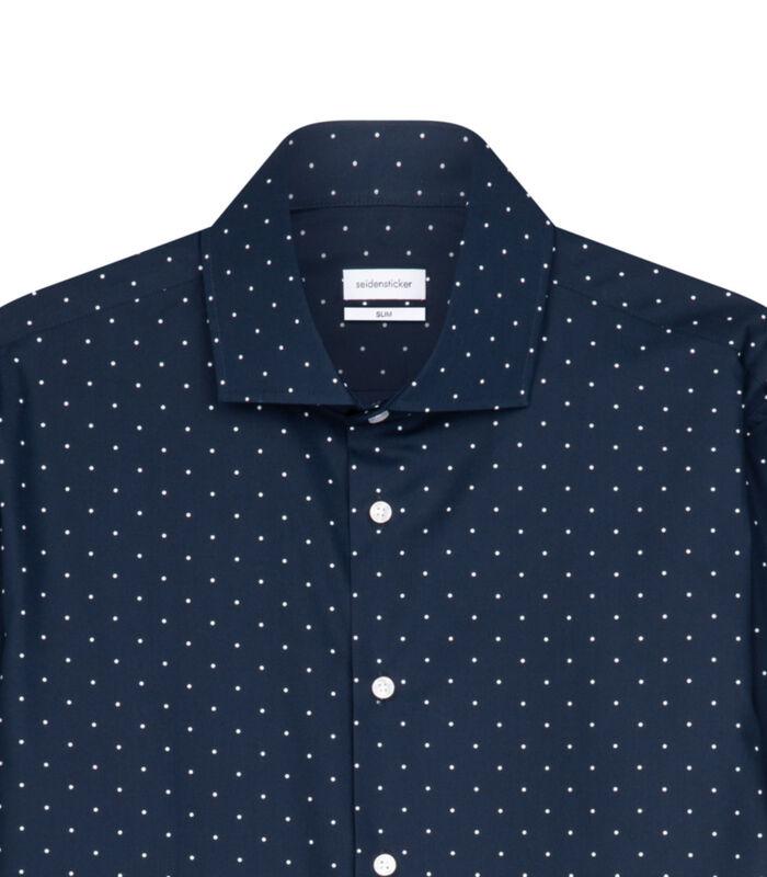 Overhemd Slim Fit Lange mouwen Stippen image number 3