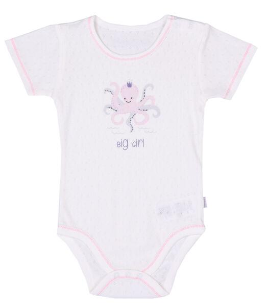 Body met korte mouwen voor babymeisjes, Poulpy