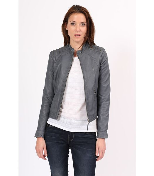 MERCEDES jas in schapenleer biker stijl
