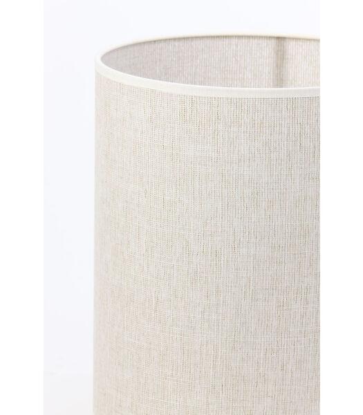Cilinder lampenkap Breska - Parel Wit - Ø25x30 cm