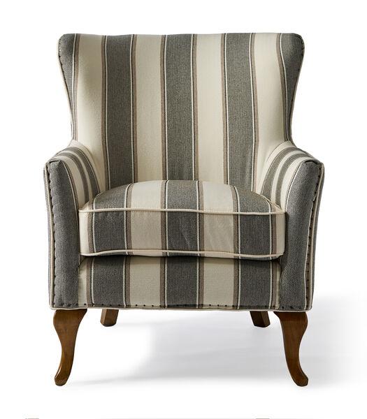 Fauteuil Cavendish Stripe gris