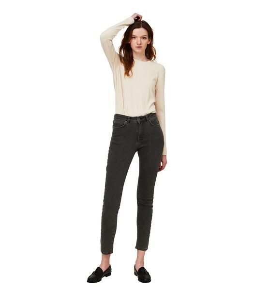 Pantalon en jean gris Zoe