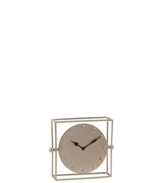 Horloge Carree Orientable Metal Argent Small