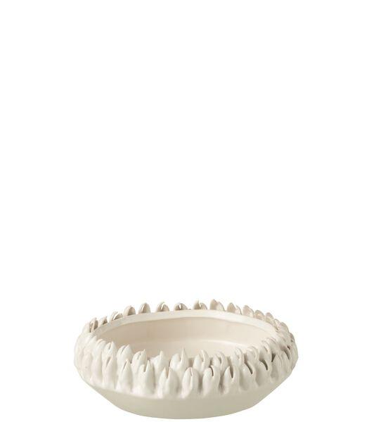 Plat Ibiza Ceramique Blanc Small