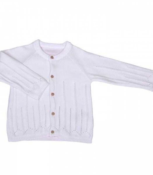 Biologisch katoenen babyvestje tricot - LUNA