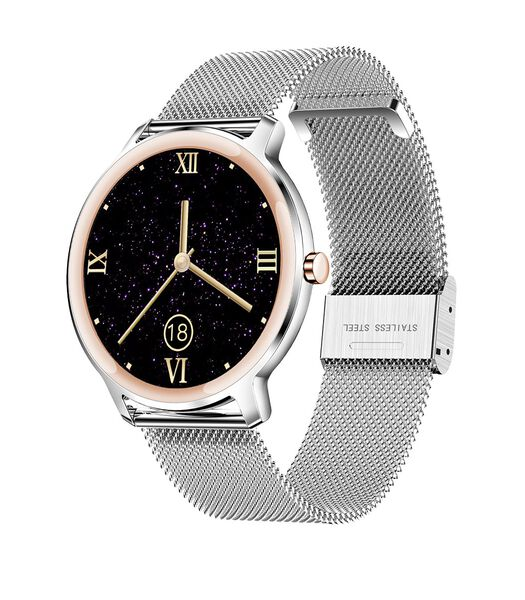 SMARTY SW018 Montre connectée bracelet cuir